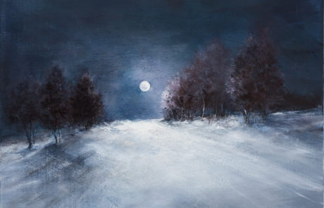 La luna illumina la via di Daniela Borsoi