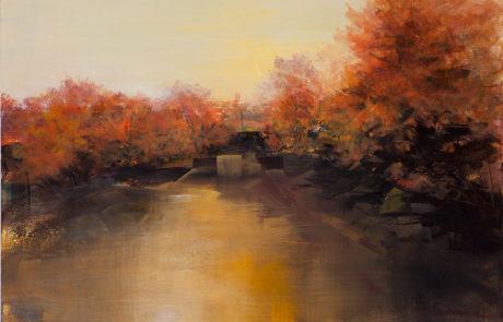 Paesaggio fluviale in autunno di Daniela Borsoi