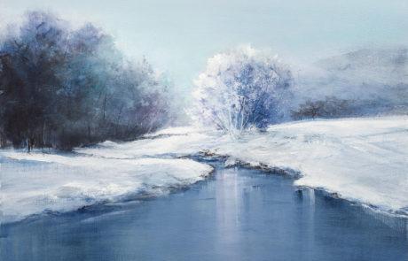 Nevicata lungo il fiume di Daniela Borsoi